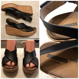 Collection by Clark's wedge sandals size 7M